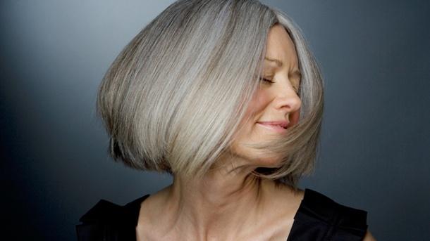 grauen Haare